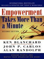 скачать книгу Empowerment Takes More Than a Minute автора John Carlos