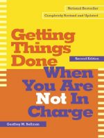 скачать книгу Getting Things Done When You Are Not in Charge автора Geoffrey Bellman