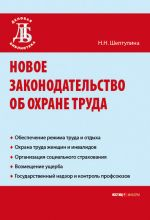 скачать книгу Новое законодательство об охране труда автора Нина Шептулина