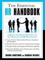 скачать книгу The Essential HR. автора Armstrong Sharon