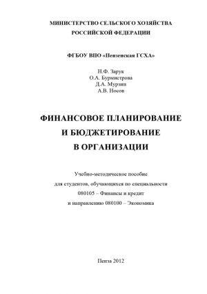 обложка книги Финансовое планирование и бюджетирование в организации автора Наталья Зарук