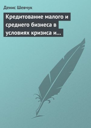 обложка книги Кредитование малого и среднего бизнеса в условиях кризиса и финансовой нестабильности автора Денис Шевчук