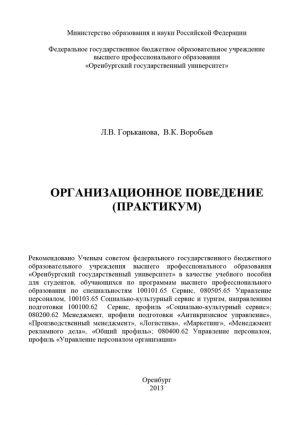 обложка книги Организационное поведение (практикум) автора Вячеслав Воробьев